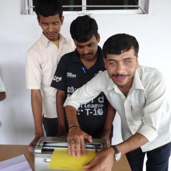 Braille printer training